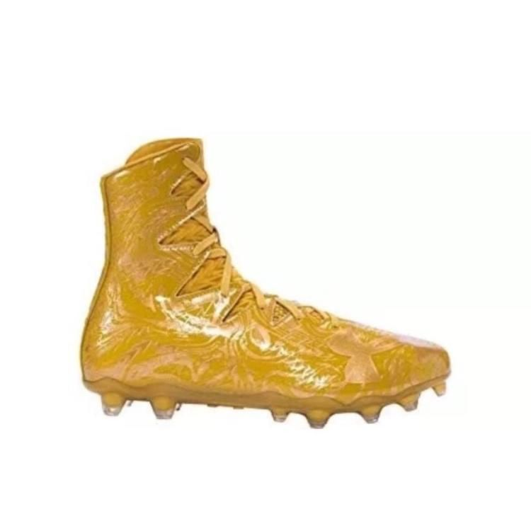 New under armour adult football cleats gold football