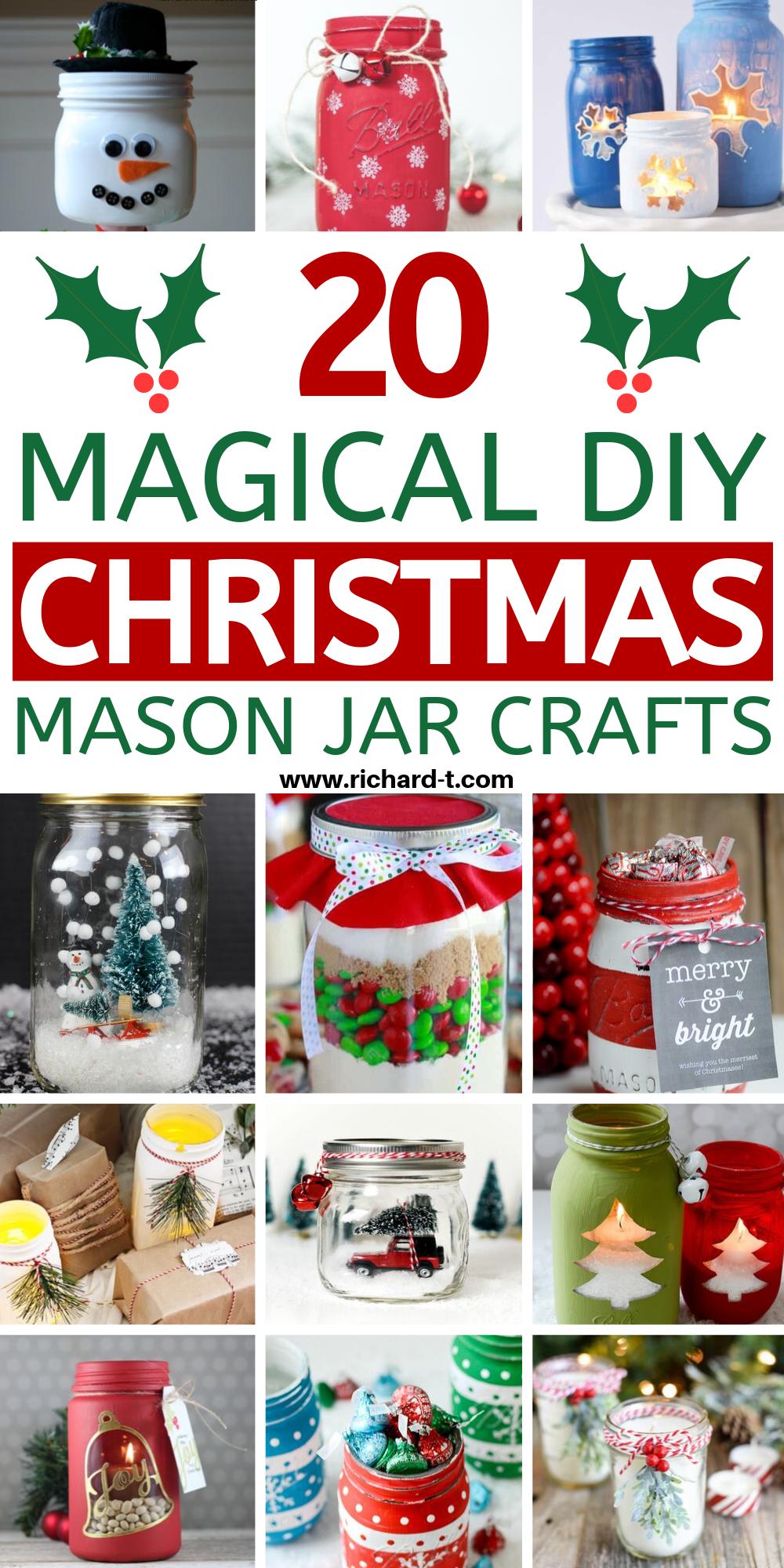 Photo of 20 Magical Christmas Mason Jars That You Can Make Yourself