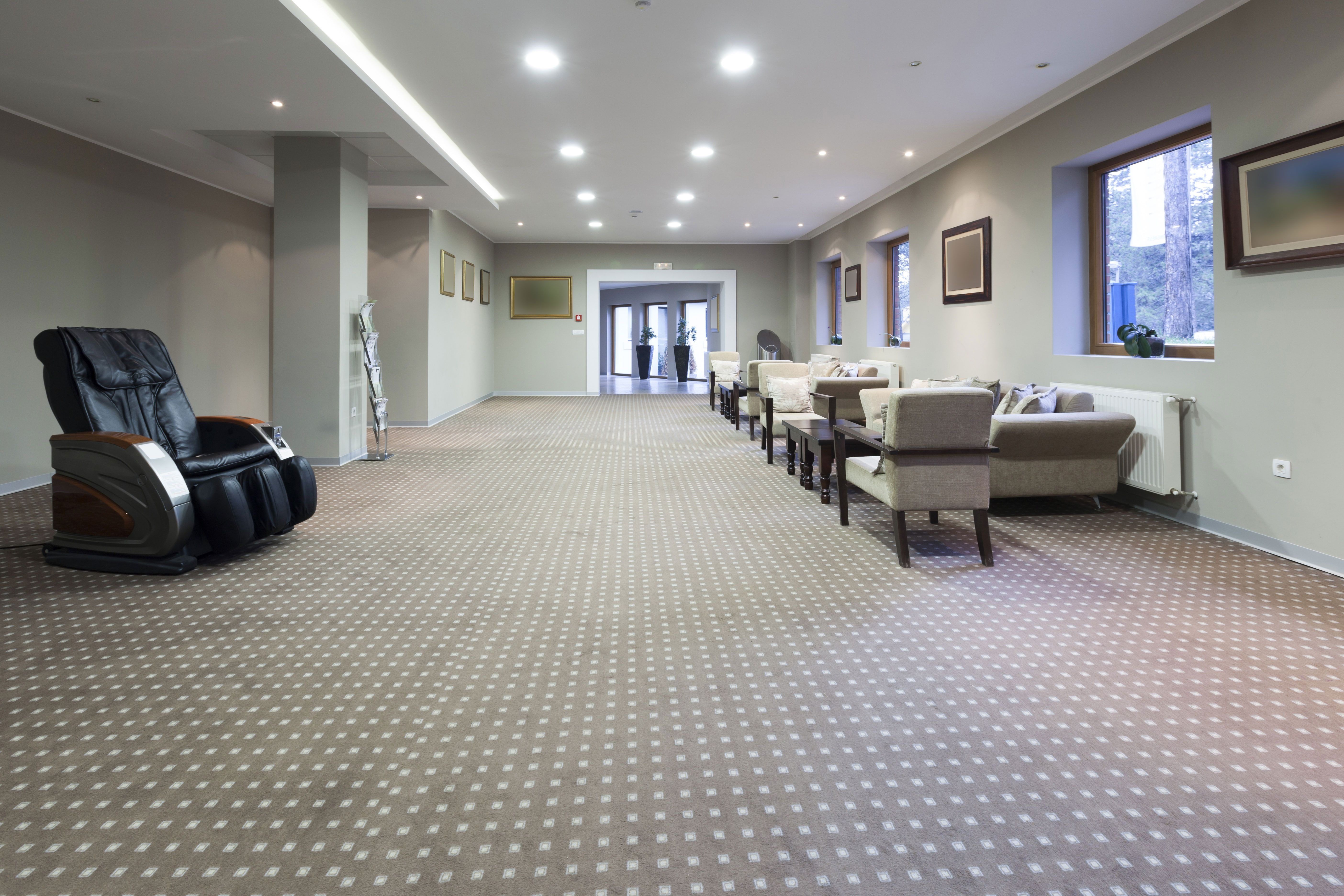 Our installation projects have included commercial carpets