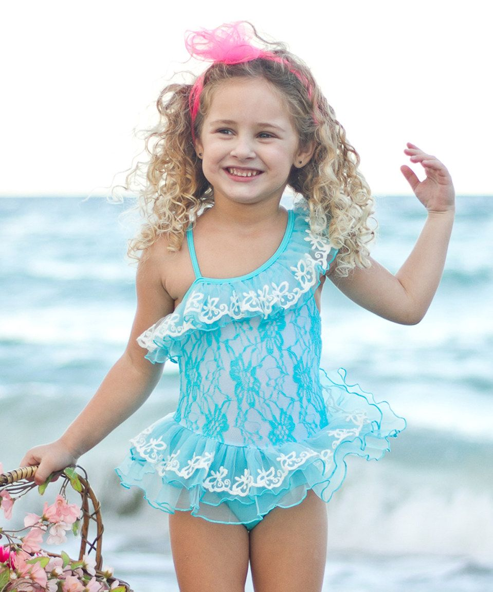 D.O.T Girl Ruffles Sling Off Swimsuit TIK TOK Print Outfits Bathing Suits