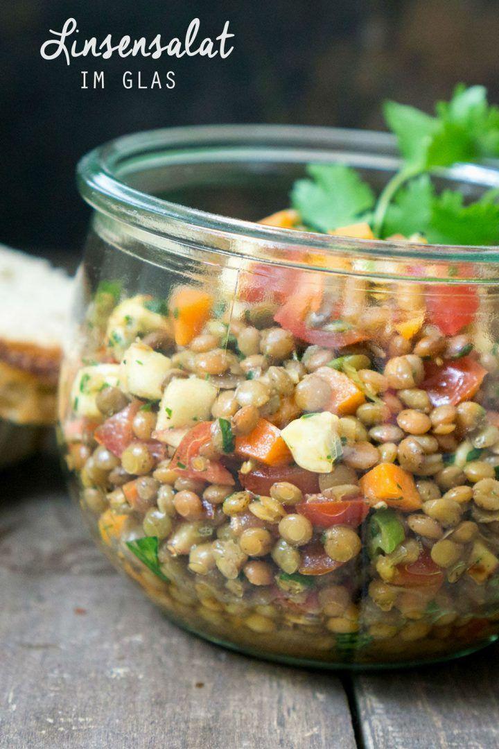 Photo of Lukewarm lentil salad in a glass – Madame Cuisine