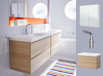 Godmorgon Odensvik Sink Cabinet With 2 Drawers White Stained Oak Effect Ikea Ikea Bathroom Bathroom Design Small Master Bedroom Bathroom