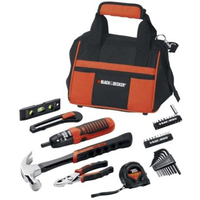 black and decker tools. a tool set actually could be really useful wedding gift! this black \u0026 decker and tools