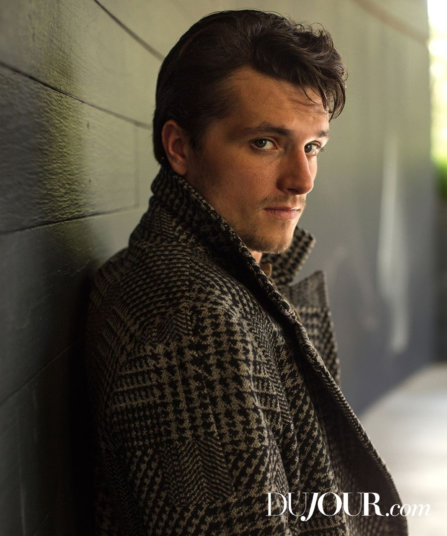 """The """"Hunger Games"""" star gets candid about on-set antics, cast sleepovers and long-distance love. Josh Hutcherson is wearing: coat, BOGLIOLI, Barneys New York."""