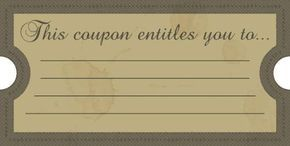Birthday Gift Coupon Template Blank Birthday Coupons To Print  Printable Coupons Perfect For .