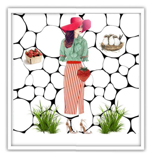 """Strawberry Season"" by anna17682 on Polyvore featuring moda, Temperley London, Aquazzura e Charlotte Olympia"