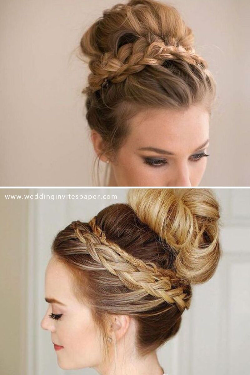 46 Unforgettable Wedding Hairstyles For Long Hair 2019 Modern High Bun Hairstyle With Bra Long Hair Styles Wedding Hairstyles For Long Hair Thick Hair Styles