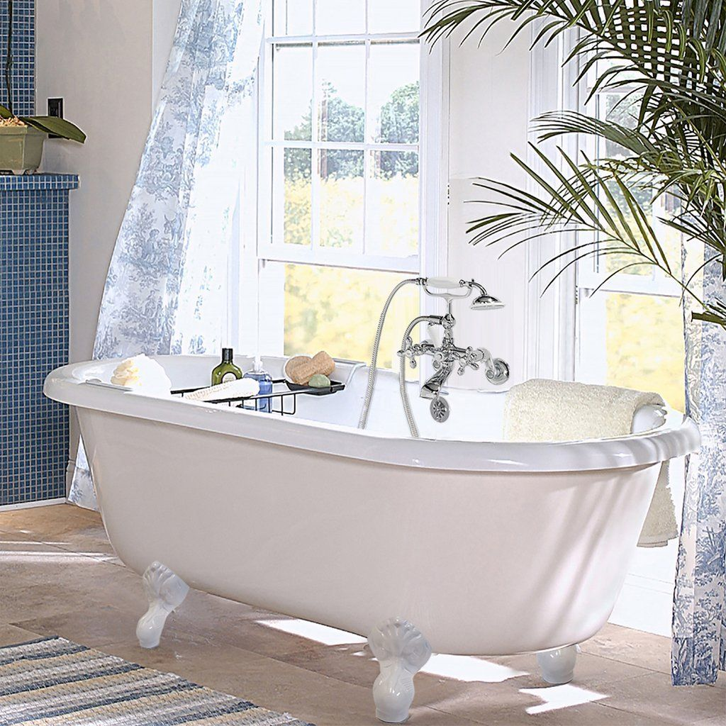Double ended clawfoot bathtub bathrooms pinterest clawfoot