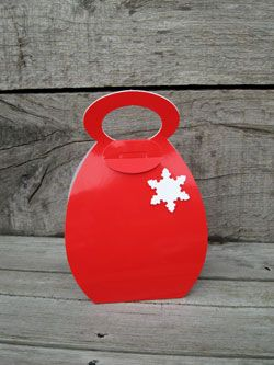Cupcake Handbag Bright Red Holds 1