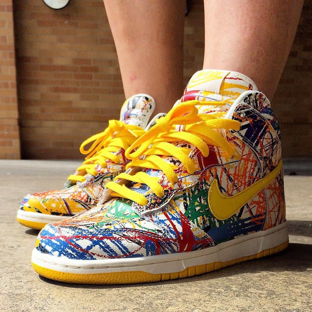 ce0ee1c33e9 Nike Dunk High GS 'Crayon Scribble' | Sneakers: Nike Dunk | Nike ...