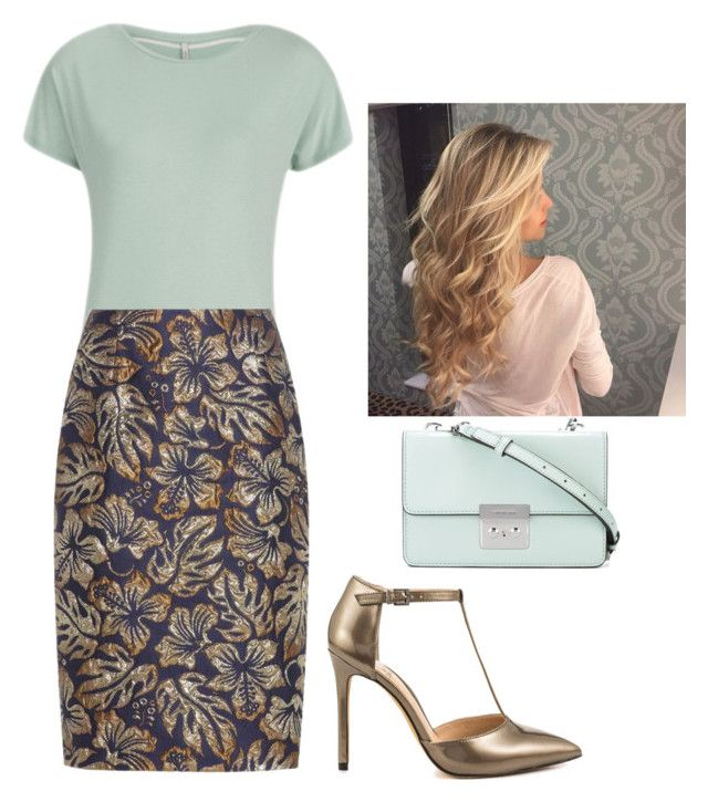 """""""RTD-compliment hour"""" by modestly-chicstyle ❤ liked on Polyvore featuring Prada, Vince Camuto and MICHAEL Michael Kors"""