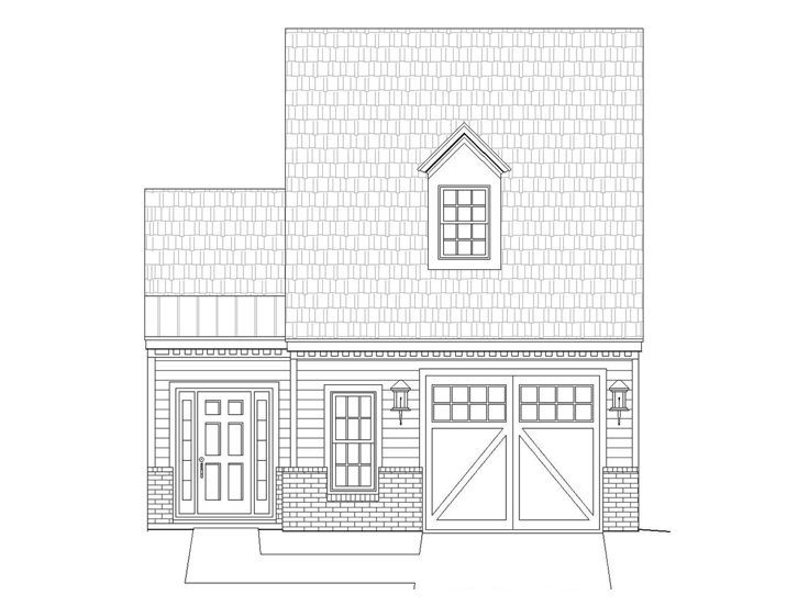 Garage Plan with Flex Space, 062G-0044