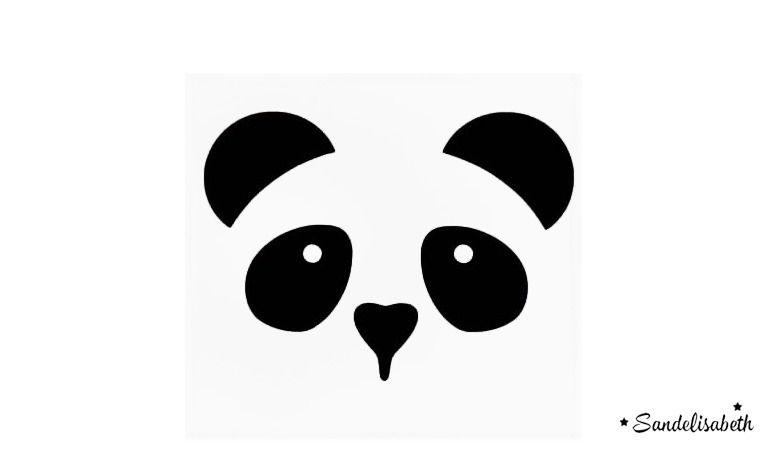 Applique Thermocollant Flex Tete Panda Linogravure Anniversaire