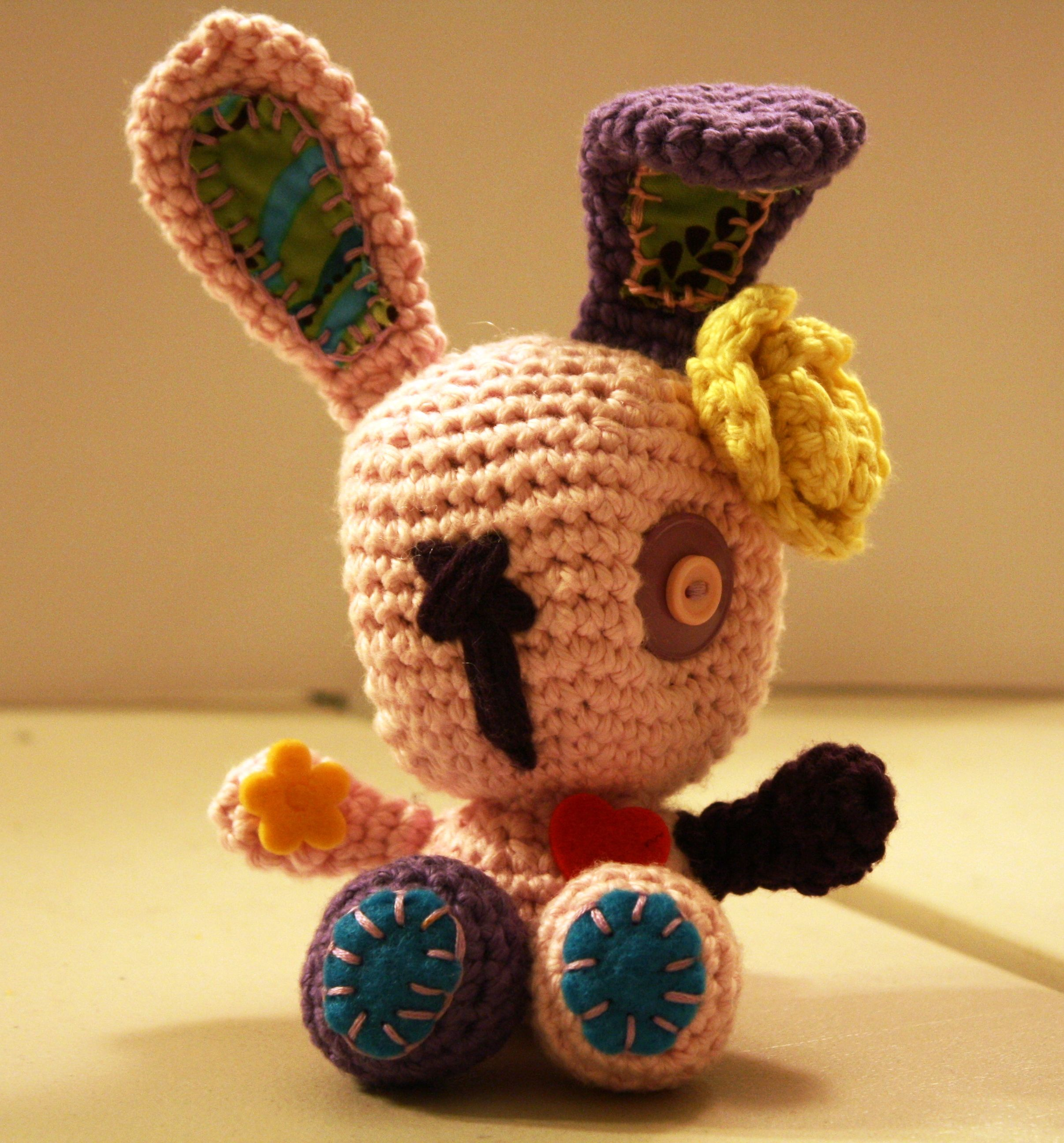 Crocheted bunny I made for my niece at Easter.  #crochet