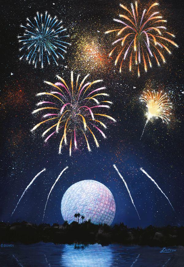 Fireworks Over Spaceship Earth Juegos Pirotecnicos Pinterest