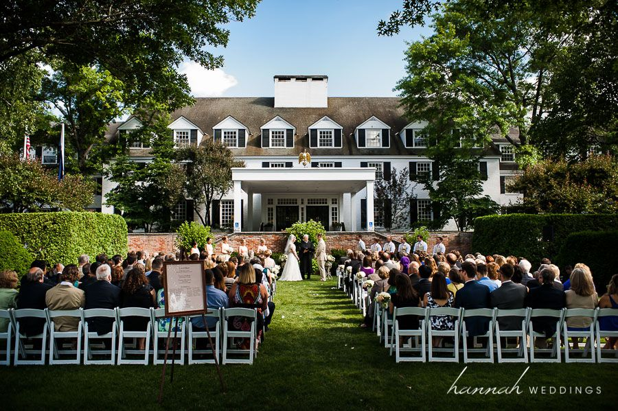 Wedding Ceremony At The Woodstock Inn And Resort In Vermont
