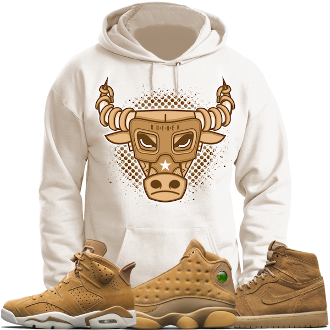 cb5f6912c31a Jordan 6 Wheat Golden Harvest 13s Sneaker Hoodie - BULLY  TeenFashion