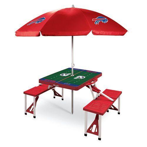 Buffalo Bills Portable Picnic Table & Umbrella - Red