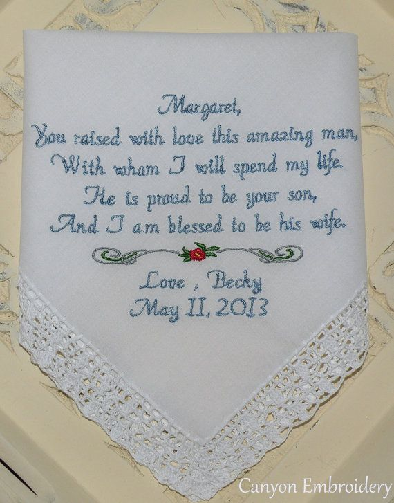 Mother Of The Groom Handkerchief Sayings Great Home Inteiror