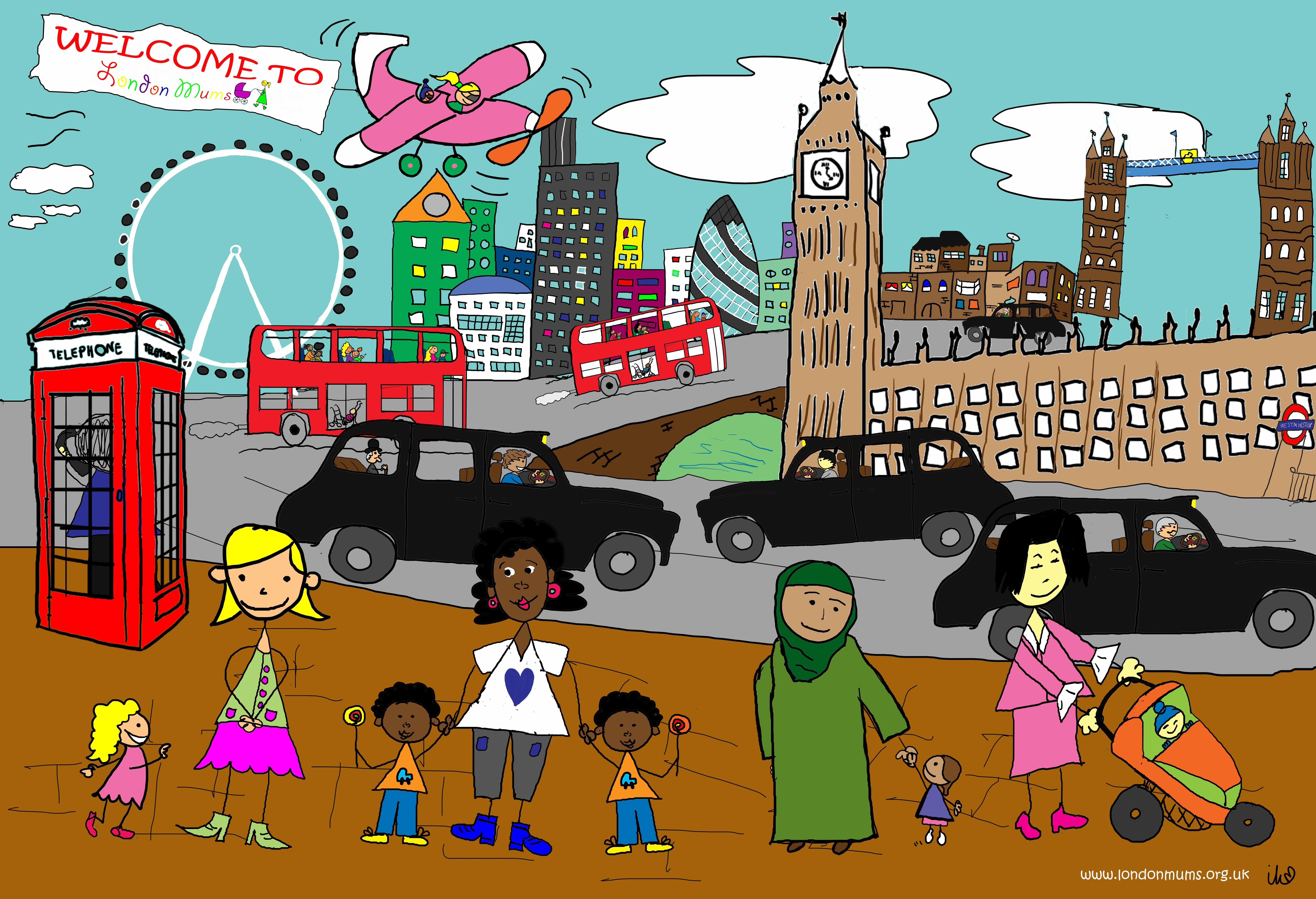 i love london drawings - Google Search
