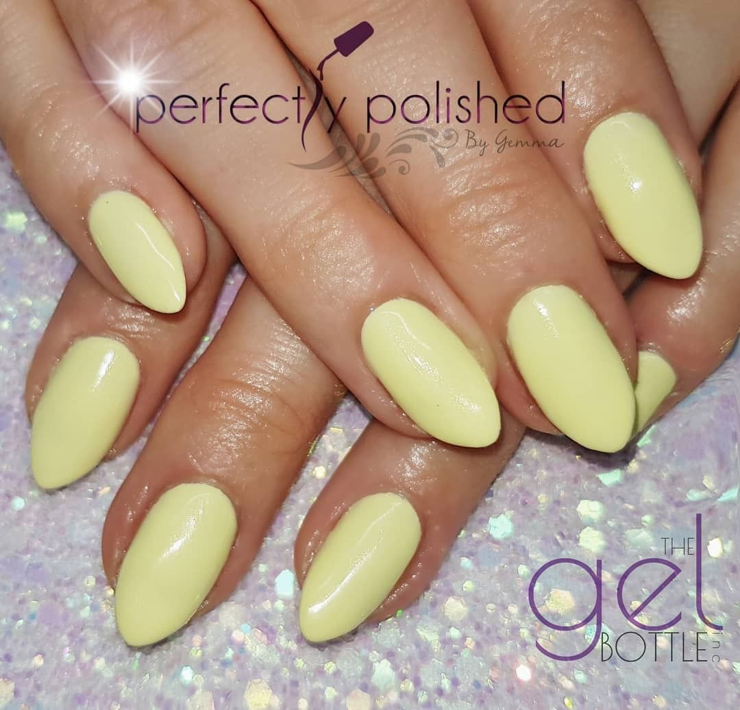 Simple Plain Pastel Yellow Nails Colours Used The Gel