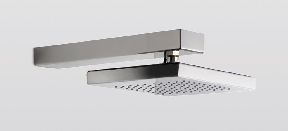 STEEL SHOWER HEAD SOFFR280 Steel square shower head mm 280x215 available in polished or satinated finish