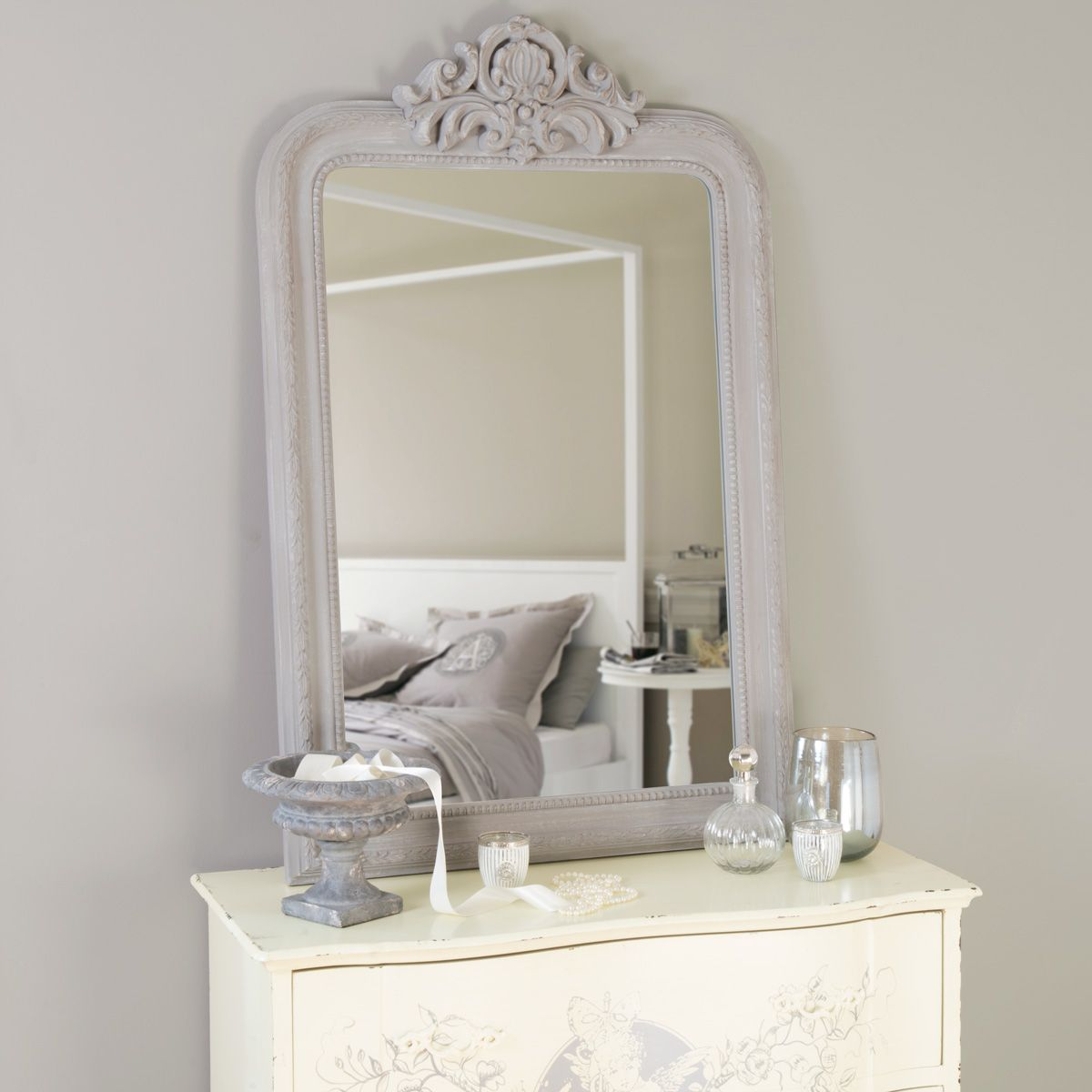 miroir altesse gris maisons du monde coiffeuse pinterest pol roger wood mirror and vanities. Black Bedroom Furniture Sets. Home Design Ideas