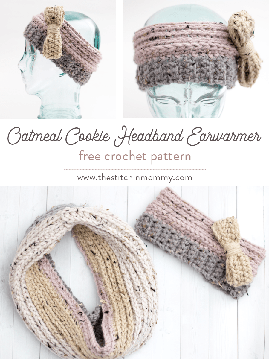 Oatmeal Cookie Headband Earwarmer - Free Crochet Pattern