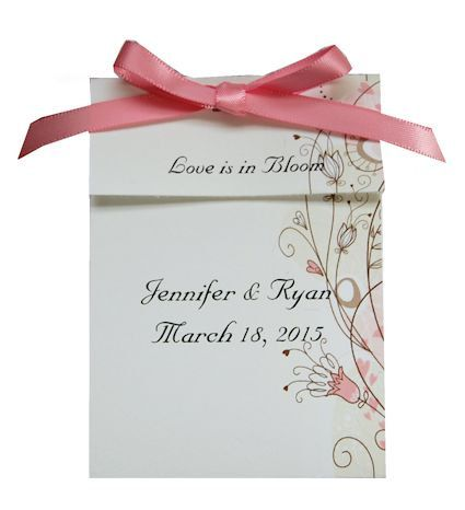 Personalized Floral Wedding Seed Packet Favor