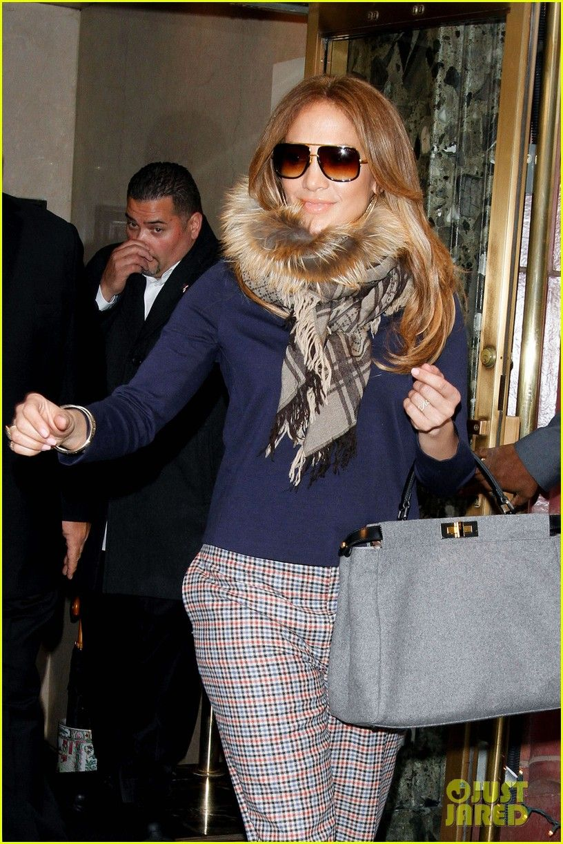 Jennifer Lopez Spotted In Dita Mach- Black And Gold