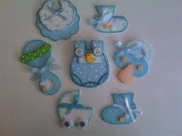 Resultado de imagen para recuerdos de baby shower hechos de foami