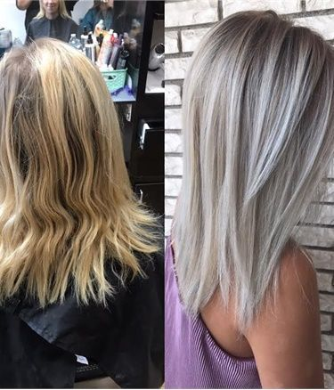 how to make your blonde hair ashy