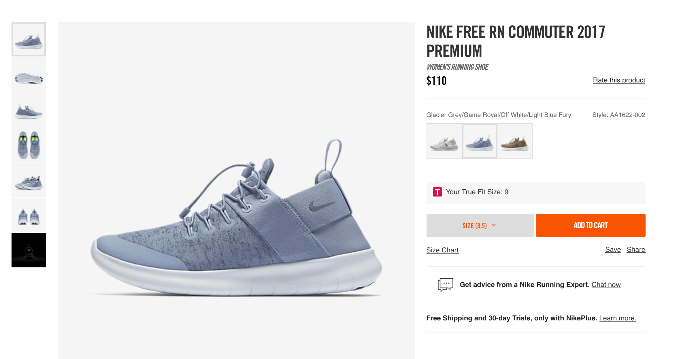 4ce109b8eb89d Size 8.5 Nike Free RN Commuter 2017 Premium in Glacier Gray https   store