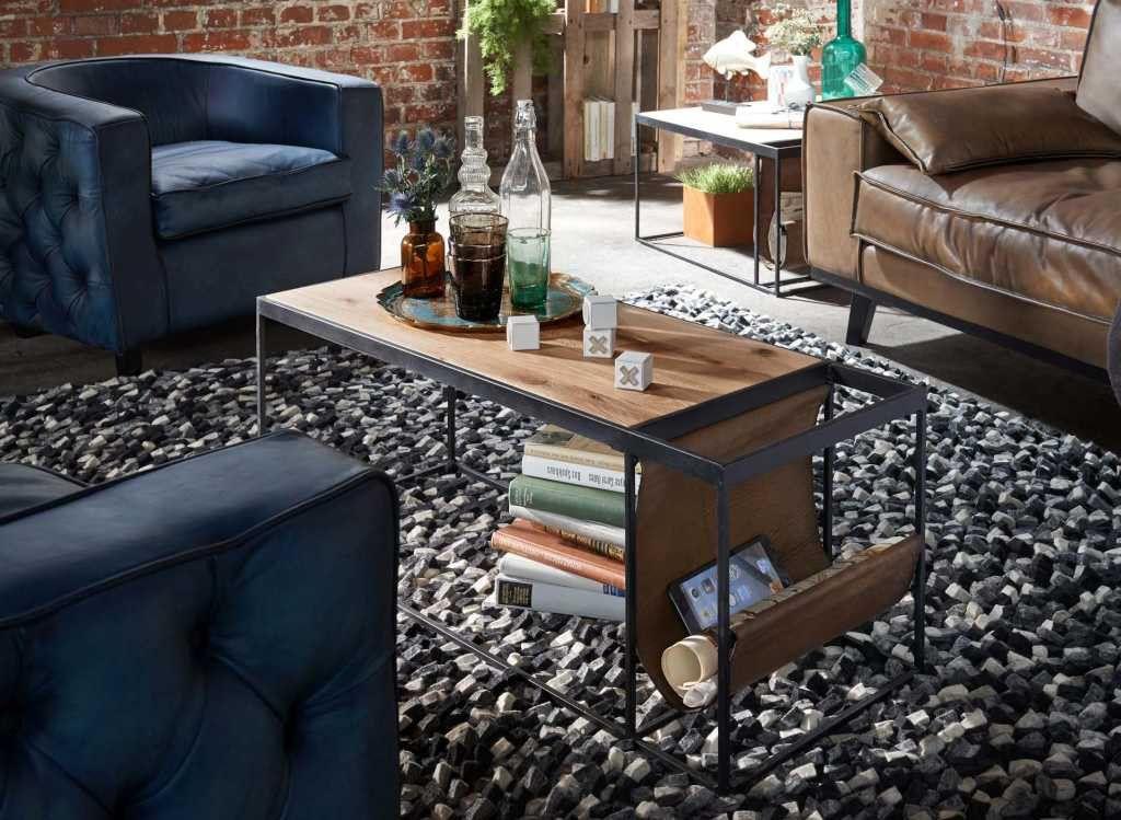 couchtisch magazine 100x50cm vintage stil pickupm industrial m bel pinterest haus. Black Bedroom Furniture Sets. Home Design Ideas
