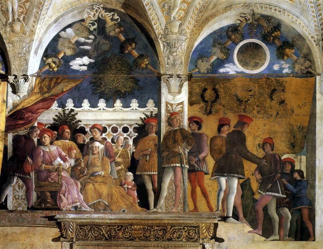 Andrea mantegna la corte dei gonzaga parete nord for Camera dei