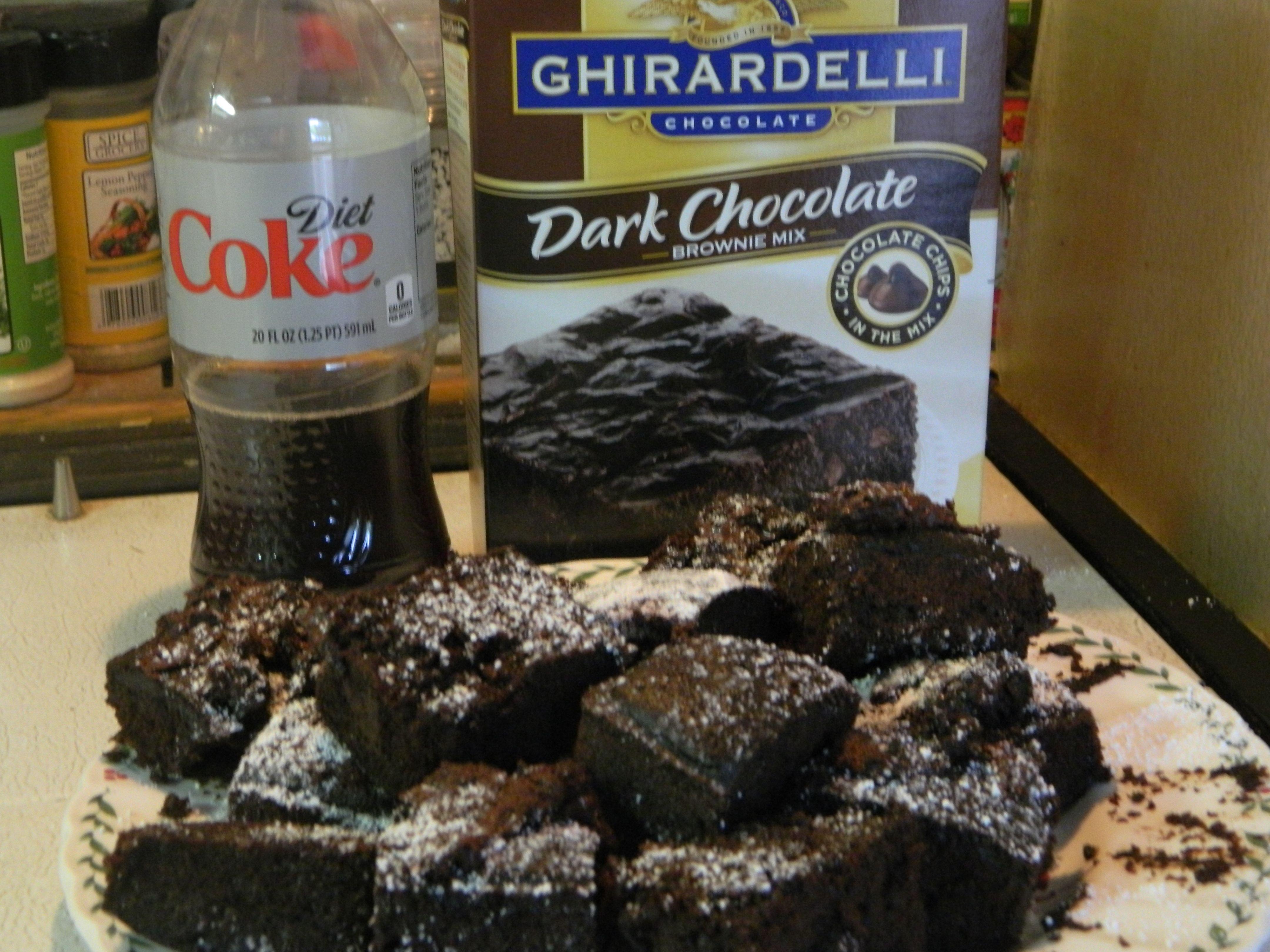Coke Brownies 1 Box Brownie Mix And 12oz Coke Pour Into Mix Stir