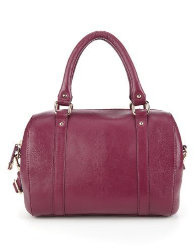 69 M And S Burgundy Leather Bag