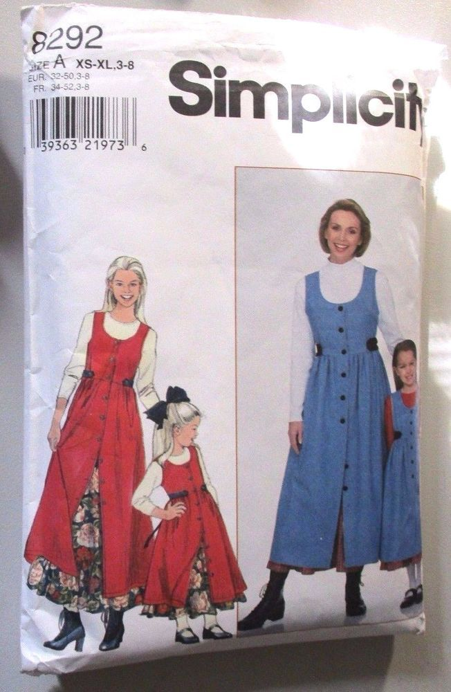 Simplicity Sewing Pattern no.8292 Girl\'s Dresses sizes 3-8 years ...