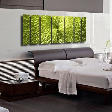 Cosmic Energy Lime Green 68 X24 Large Green Candy Paint Modern Abstract Metal Wall A Metal Sculpture Wall Art Metal Wall Art Decor Abstract Metal Wall Art