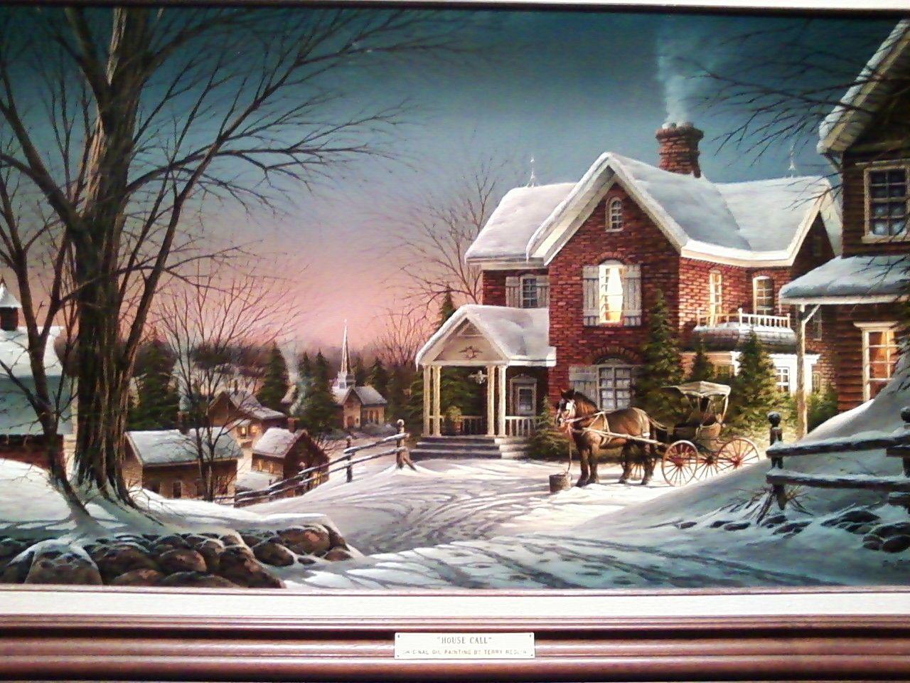 Terry Redlin Sneeuw, Kerst kaarten