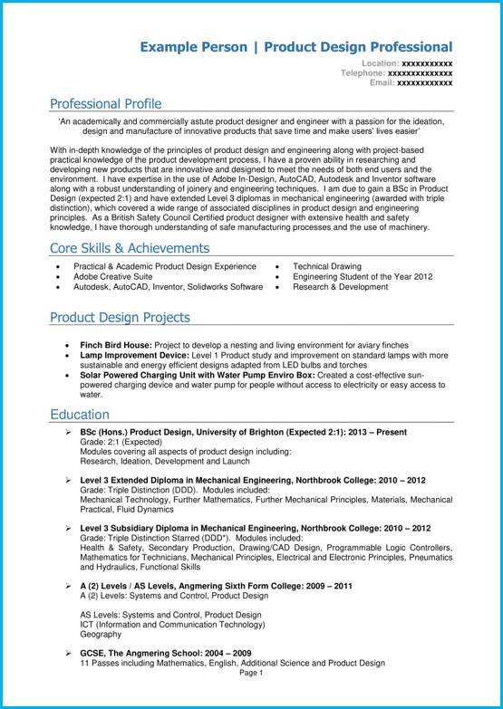 Graduate CV example page 1 Microsoft Word. Write a winning