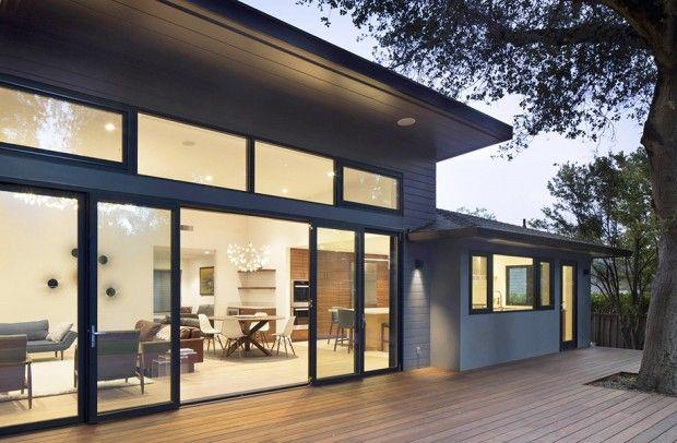 ความอบอ นท ลงต ว ในบ านส เทาช นเด ยว ท นสม ยอย างเร ยบง าย บ านไอเด ย แบบบ าน ตกแต งบ าน เว บไซต เพ อบ าน Architecture Exterior Remodel Ranch Style Home