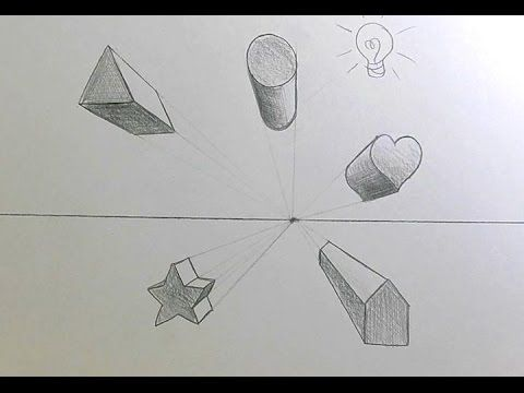 How To Draw Shapes In 1 Point Perspective Art Education