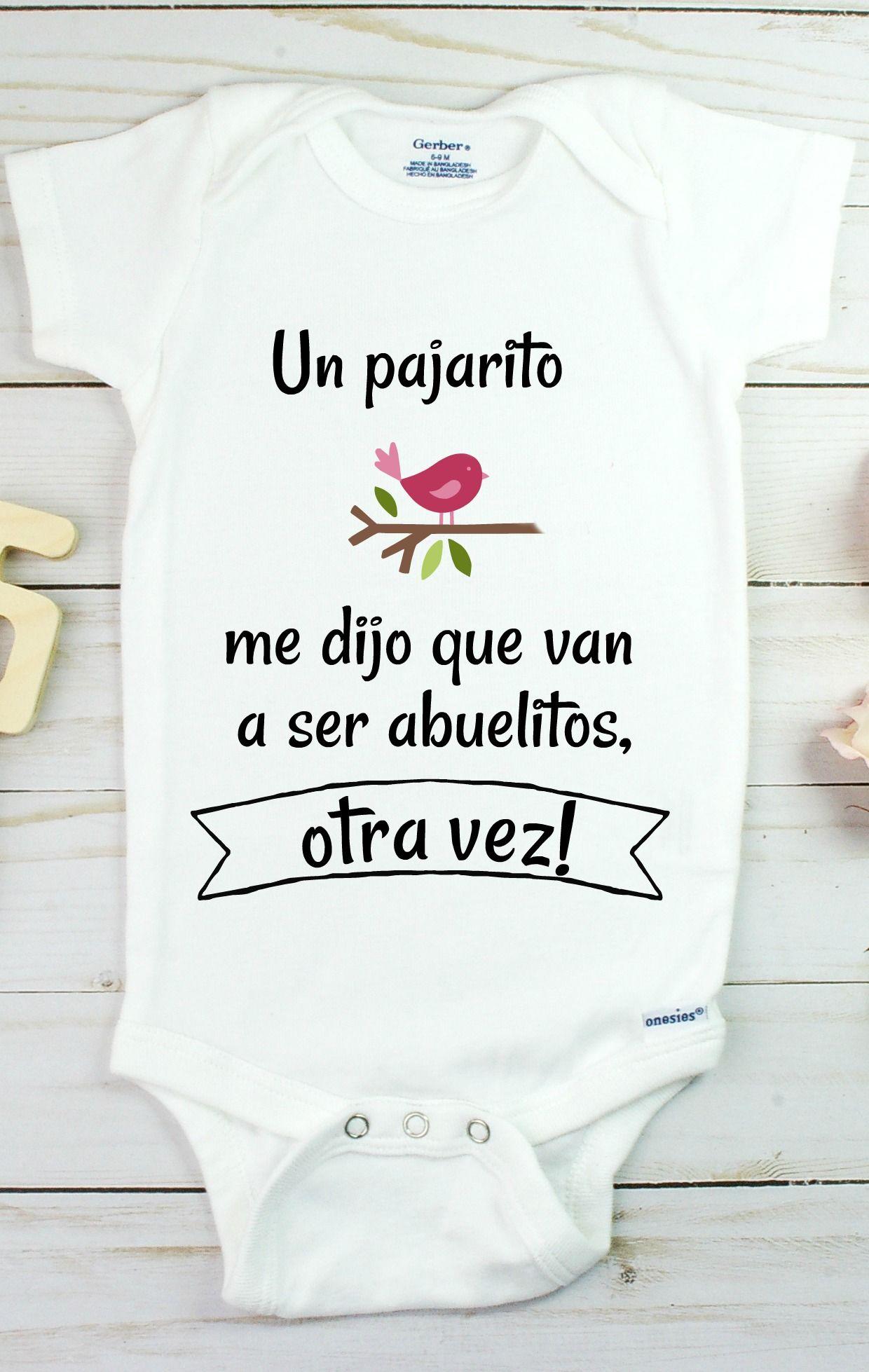 Bienvenida Baby Announcement Onesie Spanish Onesie