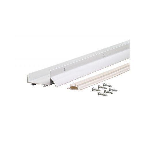 Vinyl Slide On Door Bottoms White 36 X 1 3 4 U Shaped For Metal Or Wood Doors M D Building Products Home Hardware Door Sweep