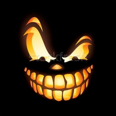 Jack o lantern stencils stock photo scary jack o for Scary jack o lantern face template