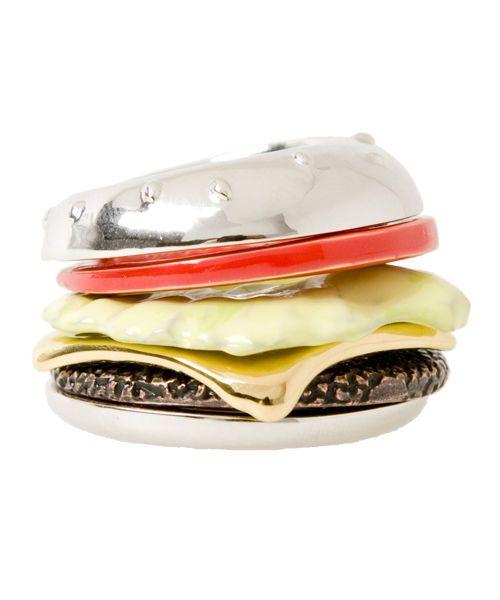 Q-pot. Burger Ring Silver B704 1441