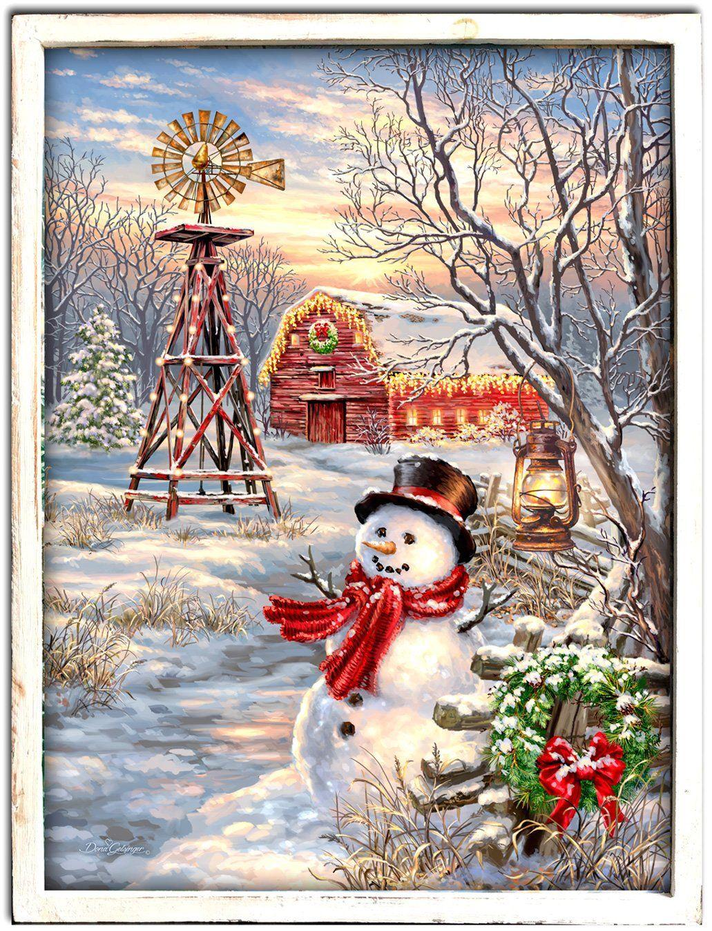 winter wall art canvas
