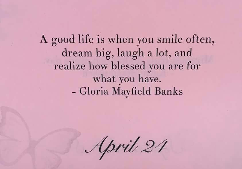 Gloria Mayfield Banks quote