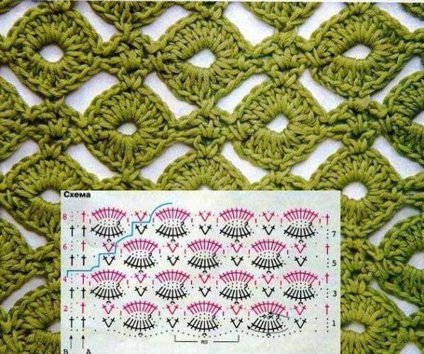 Crochet Stitch - Chart ❥ 4U // hf | muestras crochet | Pinterest ...